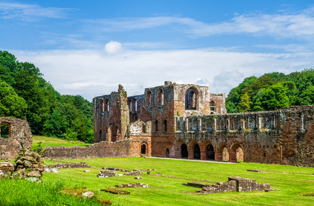 Furness Abbey, or St. Mary of Furness is a former monastery located in the northern outskirts of Barrow-in-Furness, Cumbria, England. The abbey dates back to 1123