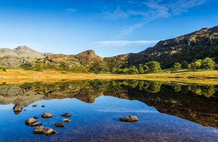 cumbria: Scenic view of Blea Tarn in the English Lake District, Cumbria, England. Stock Photo