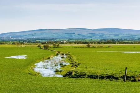Waterlogged English field.