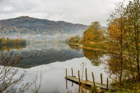 lake district: Autumn colours at Grasmere