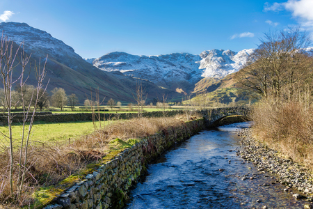 Great Langdale Beck With Crinkle Crags in the distance