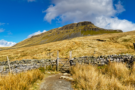 A path leading to PenyGhent, in the Yorkshire Dales.