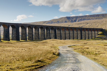The Ribblehead viaduct and the path leading to it.