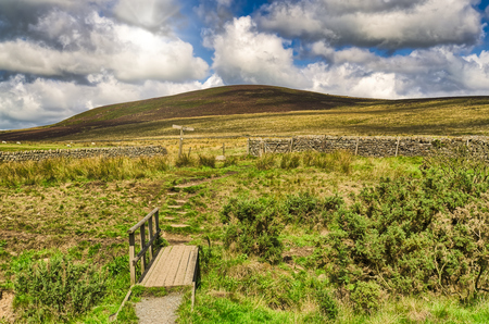 Typical English moorland in The Forest of Bowland, near Lancaster, Northern England.