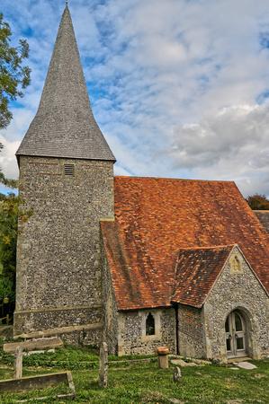 The 14th century church in the village of Alciston