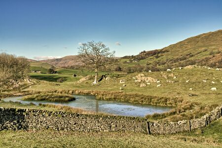 A small tarn near Stavely in the English Lake District.