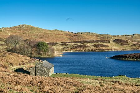 Gurnal Dubs: a small lake, or tarn, near Stavely, in The English Lake District. 免版税图像