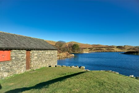 Gurnal Dubs: a tarn, near Stavely, in The English Lake District. 免版税图像