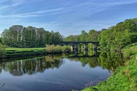 The River Lune, near Lancaster, in Spring 免版税图像