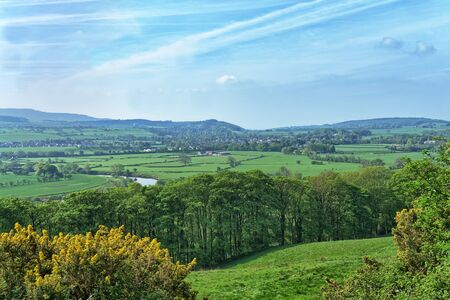 A view across the River Lune valley near Lancaster in Spring