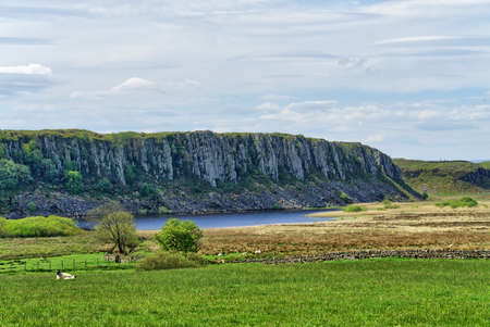 A view of Highshield Crags and Crag Lough, features on Hadrians wall