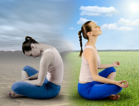 mente humana: Meditaci�n Fresh Foto de archivo