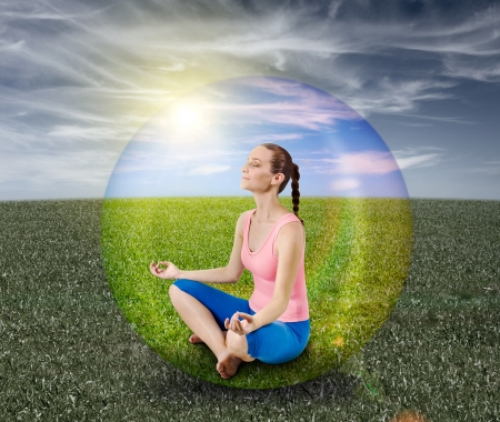 Meditation bubble photo