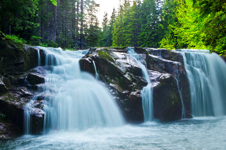 peacefull: nice watterfall in deep forest Stock Photo