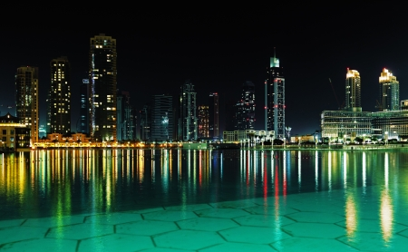 Dubai downtown at night, UAE, 2010 photo