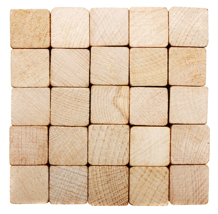 Stack of the wooden material lumber  photo
