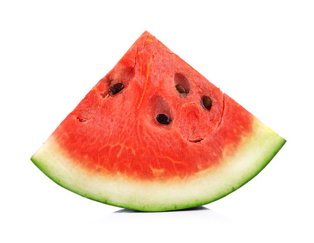 Slice of water melon on a white background.