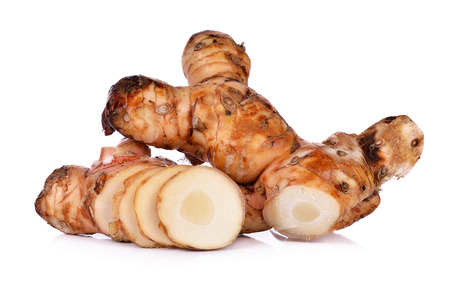 galangal: galangal isolated on white background. Stock Photo