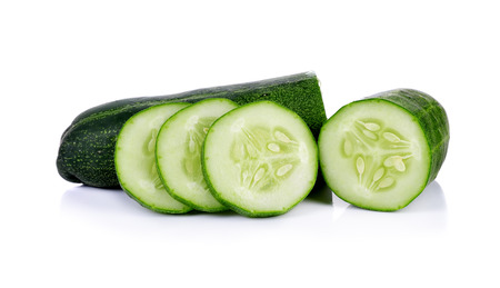 fresh cucumbers isolated on white background. photo