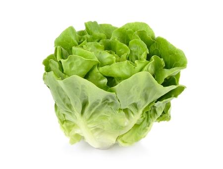 vibrat color: Lettuce isolated on white background.