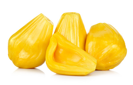 Ripe Jackfruit isolated on white background.