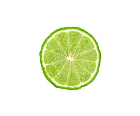 Half of Bergamot isolated on white background. 스톡 콘텐츠