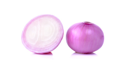 shallots isolated on a white background. photo