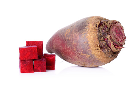 red beetroot on a white background. photo