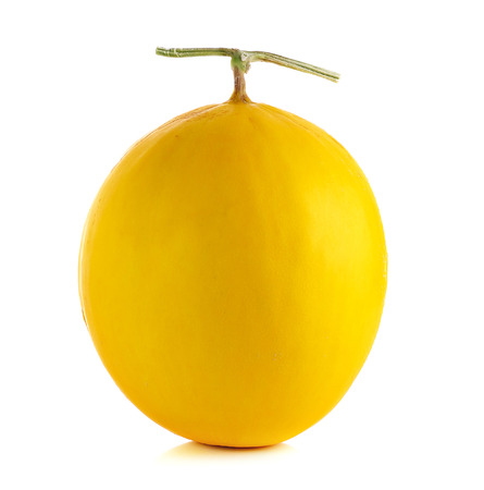 gloden: Yellow cantaloupe isolated on the white background.