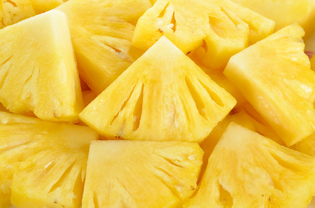 Close up slice pineapple background texture. Archivio Fotografico