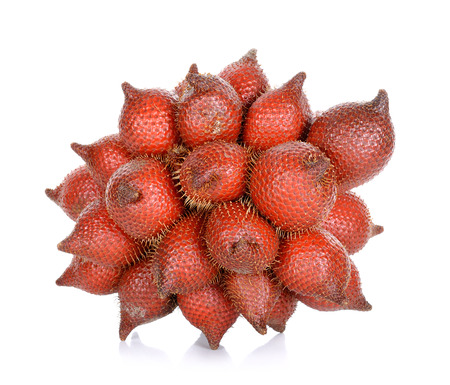 salak: Salak fruit, Salacca zalacca isolated on the white background. Stock Photo