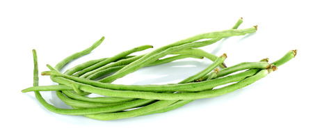 long bean: Long bean isolated on the white background. Stock Photo