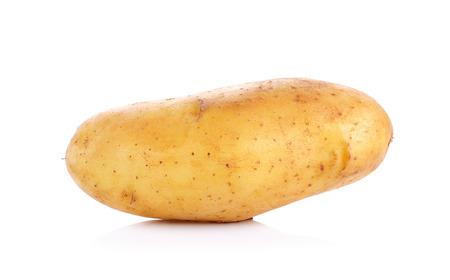 raw potato: Raw Potato isolated on the white background.
