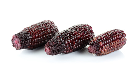 fight disease: Red corn isolated on the white background . Stock Photo