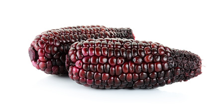 fight disease: Red corn isolated on the white background. Stock Photo