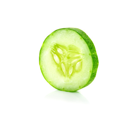 cucumber: Slice cucumber isolated on the white background.
