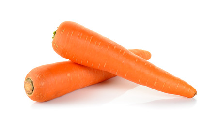 Carrot isolated on the white background . Banque d'images