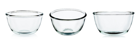 Empty bowl glass isolated on the white background.