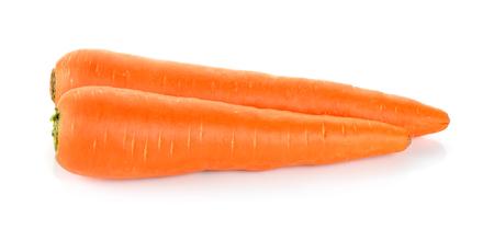 carrot: Zanahoria aislado en el fondo blanco. Foto de archivo