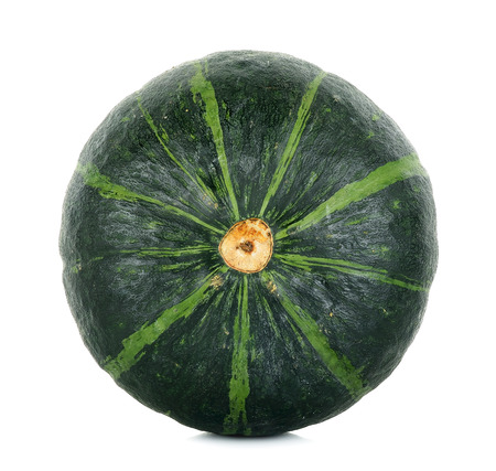 Green pumpkin isolated on the white background.