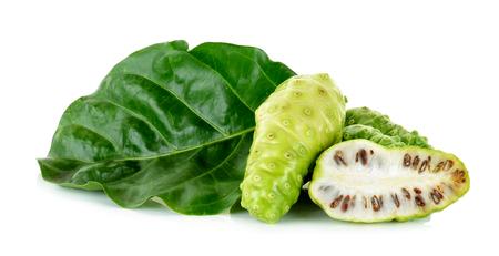 noni fruit: Exotic Fruit - Noni isolated on the white background. Stock Photo