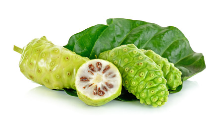 Exotic Fruit - Noni isolated on the white background. 스톡 콘텐츠
