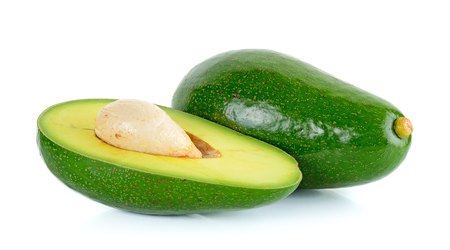 avacado: Green avocado isolated on the white background.