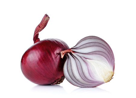 onion: Red onion isolated on the white background. Foto de archivo