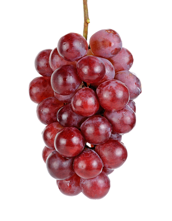 red grape: Red grape isolated on the white background.