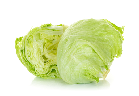 Fresh lettuce isolated on the white background.