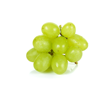 purple red grapes: grape isolated on a white background . Stock Photo