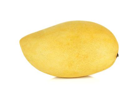 Ripe mango isolated on the white background. Banco de Imagens