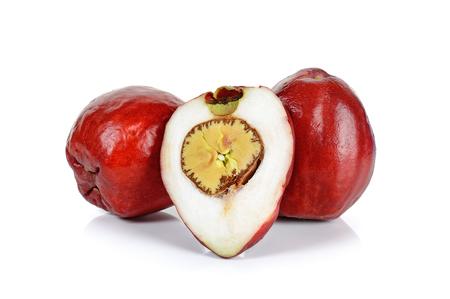 malay food: Pomerac, Malay apple, isolated on white background.