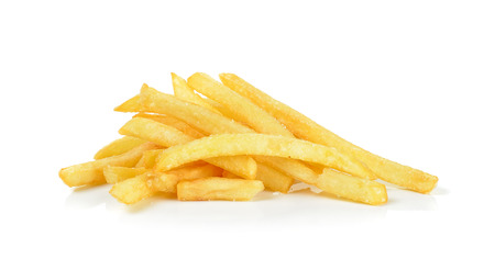 frites: French fries isolated on the white background.